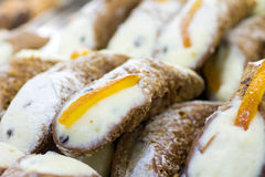 Cannoli, typical Sicilian desserts Royalty Free Stock Photography