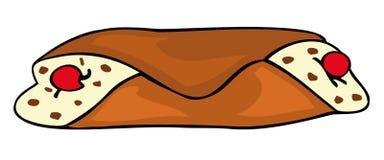 cannolo присицилийское иллюстрация штока