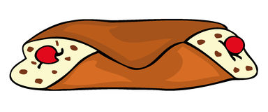 西西里人的cannolo 免版税库存照片