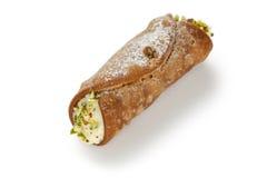 Cannolo, dessert italien de pâtisserie Photos libres de droits