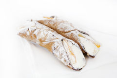 Cannolo siciliano Royalty Free Stock Photography