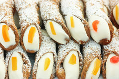 Cannolo siciliano royalty free stock image
