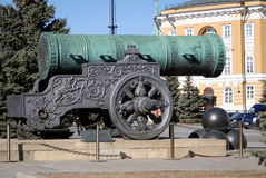 cannon国王在莫斯科克里姆林宫 科教文组织世界遗产站点 库存图片