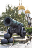 Cannon (沙皇Pushka)国王在克里姆林宫,俄罗斯 免版税图库摄影