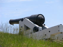 Cannon. Old civil war cannon located at fort Fisher North Carolina Stock Images