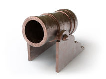 Cannon. On a white surface Royalty Free Stock Photography