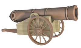 Cannon. On a white background Stock Photos