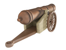 Cannon. On a white background Royalty Free Stock Images