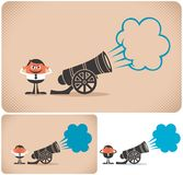 Cannon. And eer. The illustration is in 3 versions Royalty Free Stock Photo