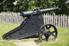 Cannon. Medieval cannon on the gun carriage stock images