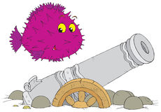 Cannon. Vector clip-art / children's illustration for your design Royalty Free Stock Photos