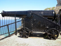 Cannon. A cannon on Gibraltar rock Royalty Free Stock Photography