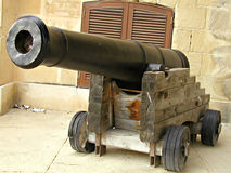 Cannon. A great siege cannon that dates back to the 1500's that was used my the Knights of St.John in Malta Royalty Free Stock Photos