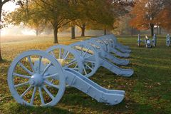 Cannon. S in the moring light at Valley Forge Park, PA Royalty Free Stock Image