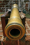 Cannon. A brass cannon stock image
