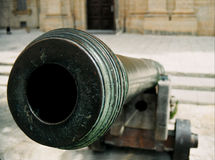Cannon. An old Cannon used in the 16th Century on fortifications around the island of Malta, Europe Stock Image