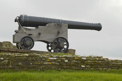 Cannon. In Castle of Falmouth, Cornwall, United Kingdom stock photo