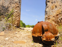 Cannon in african fortress. Lamu, Manda beach Stock Images