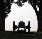 Cannon in the Afternoon. 18th Century cannon aimed and ready during a summer afternoon Royalty Free Stock Photos