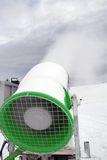 Cannon for artificial snow. Cannon for snow in mountain Royalty Free Stock Photo