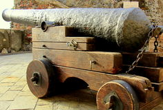 Cannon. Attack position to bombard cannon Stock Photography