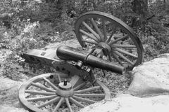 Cannon B&W Royalty Free Stock Photos