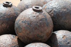 Cannon ball in El Morro Royalty Free Stock Image
