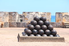Cannon balls Royalty Free Stock Photo