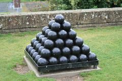 Cannon balls Royalty Free Stock Image