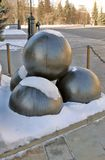 Cannon balls in Moscow Kremlin. UNESCO World Heritage Site. Royalty Free Stock Photo
