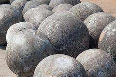Cannon balls in Taman Fatahilah, Old Town  Jakarta Stock Photography