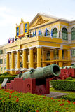Cannon bangkok in   architecture  garden steet Royalty Free Stock Photography