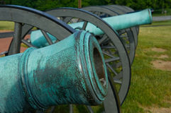 Cannon barrel detail Royalty Free Stock Image