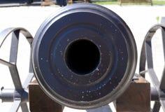cannon barrel hole Royalty Free Stock Image