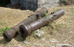 Cannon Barrels Royalty Free Stock Photography