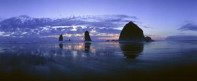 Cannon Beach. View of Cannon Beach at sunset , Oregon Royalty Free Stock Photo
