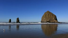 Cannon Beach with Haystack Rock and Needles along Oregon Coast 1080p