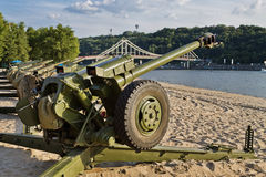 Cannon on the beach Royalty Free Stock Photography