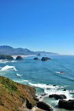 Cannon Beach Oregon. View of Cannon Beach Oregon as seen from Ecola Park looking South Stock Photography