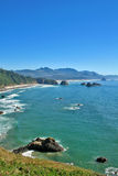 Cannon Beach Oregon. View of Cannon Beach Oregon as seen from Ecola Park looking South Stock Photo