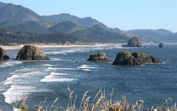 Cannon beach, Oregon coastline. Royalty Free Stock Image