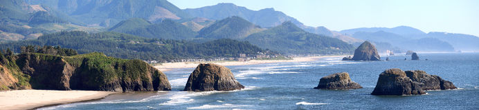 Cannon beach Oregon coastline. Royalty Free Stock Images