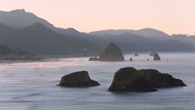 Cannon Beach Oregon, Pacific Coast Morning stock video