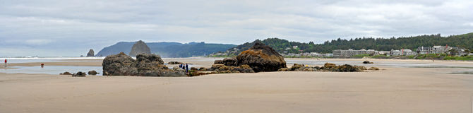 Cannon Beach Oregon Panorama Royalty Free Stock Image