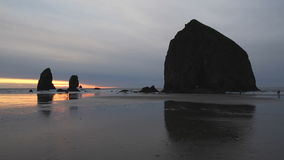 Cannon Beach, Oregon, Sunset Cycle stock video