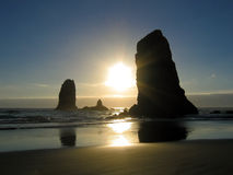 Cannon Beach Sunset Stock Images