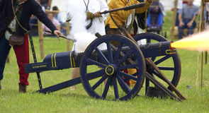 Cannon being fired Stock Photos