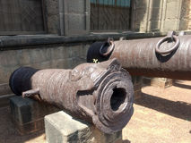 Cannon at Bijapur Karnataka. One of the heavy Cannon used in Bijapur during 16th century Mughal emperor Adilshaha Stock Photos