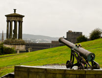 Cannon in Calton Hill Stock Photography