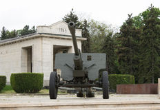 Cannon in Carol Park, Bucharest, Romania Stock Image
